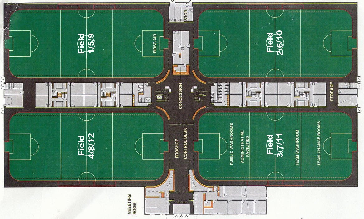 Indoor Facilities Field Layout